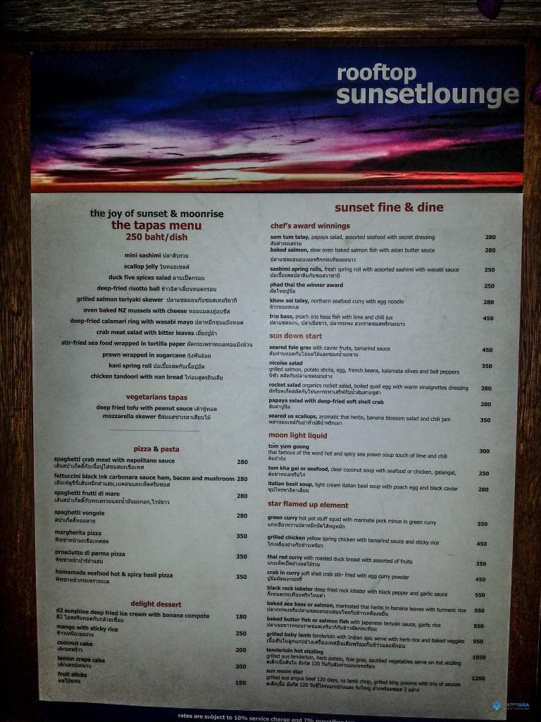 Цены в ресторанах Паттайи