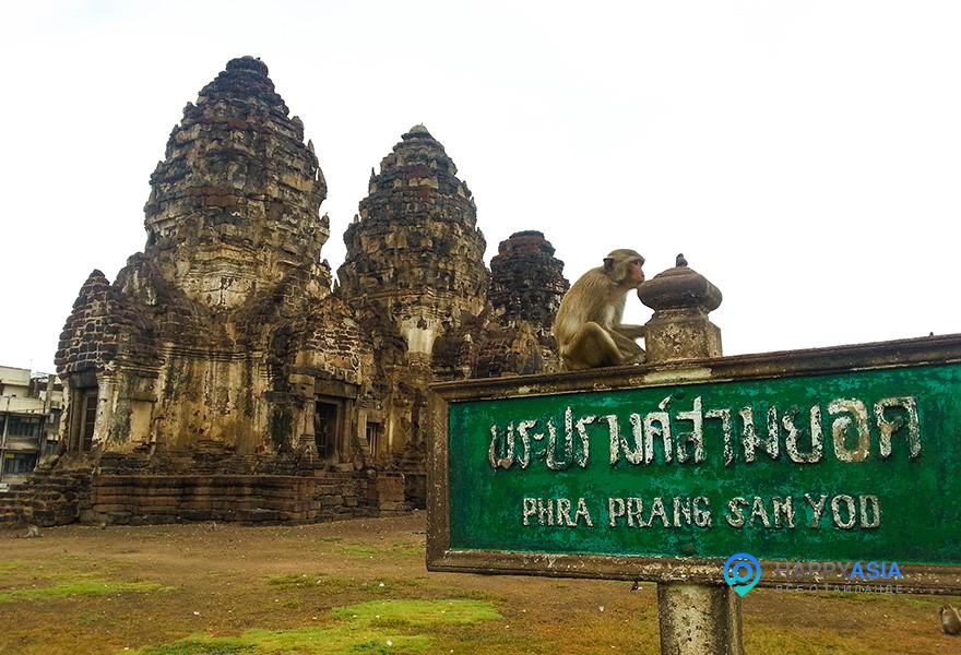 Храм обезьян Тайланд