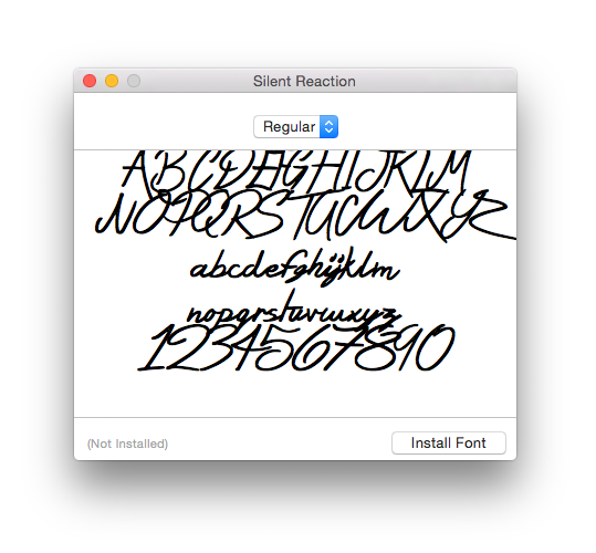 Как установить шрифт на mac