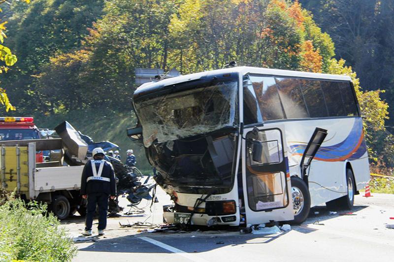 туристический автобус разбился