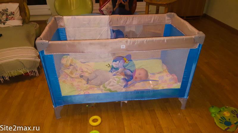 Детская кровать для путешествий, мой тест