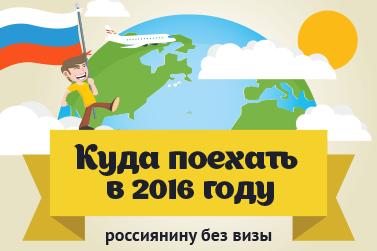 Список безвизовых стран 2016 (инфографика)