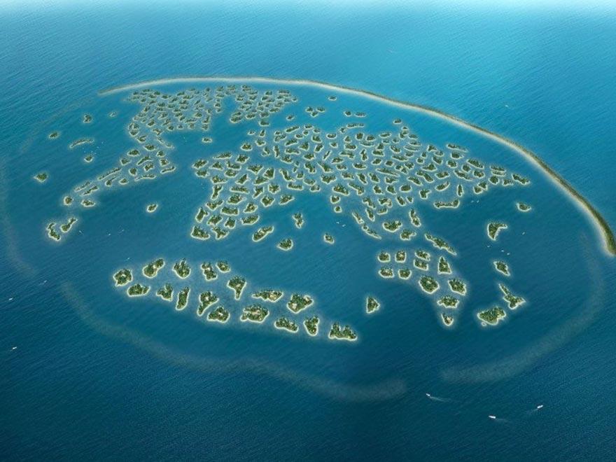 """Искусственные острова """"Мир"""" в Дубае"""