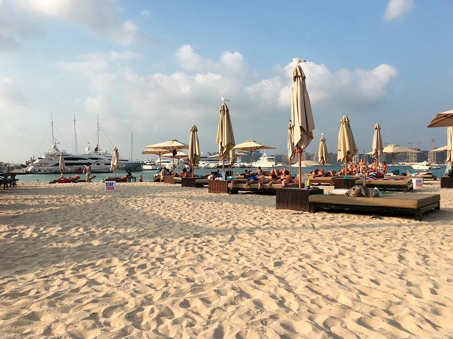 Бесплатный пляжный клуб в Дубае