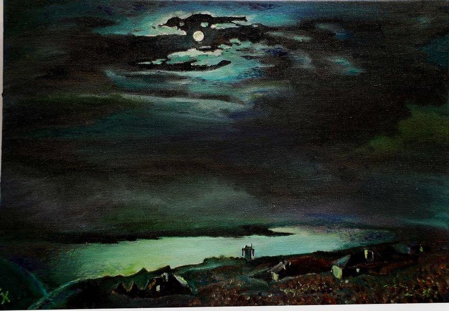 Лунная ночь на Днепре