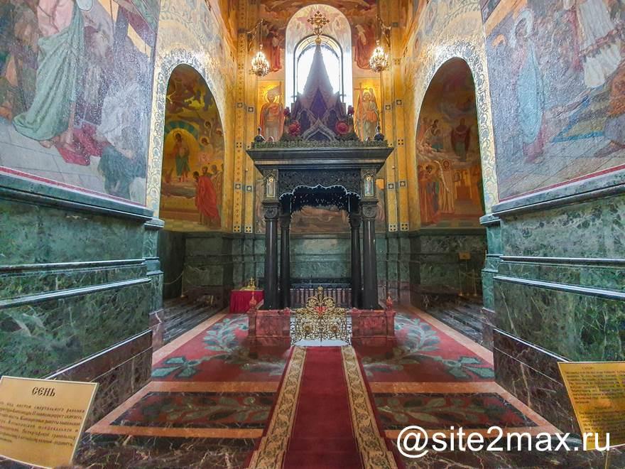 Собор спаса на кровиМесто гибели Александра II