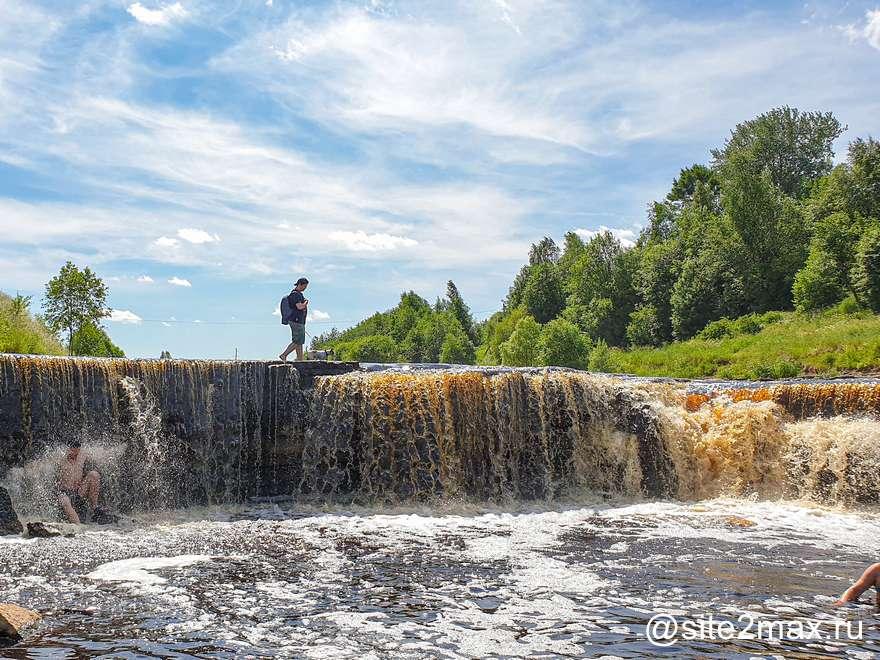 Большой тосненский водопад — гуляю по водопаду под Санкт-Петербургом